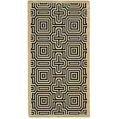 Shop for Safavieh Indoor/ Outdoor Matrix Sand/ Black Rug (4' x 5'7). Free Shipping on orders over $45 at Overstock.com - Your Online Home Decor Outlet Store! Get 5% in rewards with Club O!
