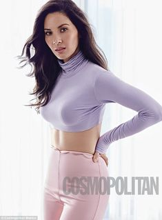 Gorgeous:The 36-year-old actress dressed in several different pastel style outfits as she showed off her lean and impressive frame