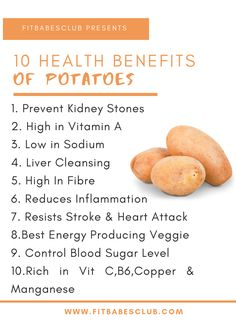 Potatoes are the best energy-producing vegetables. It has many health benefits. Click the link to see other healthy food ideas. Potato Health Benefits, Fruit Benefits, Healthy Summer Recipes, Healthy Tips, Healthy Food, Good Health Tips, Health And Beauty Tips, Vitamine B12, Food Facts
