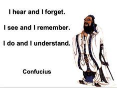 Professioneel docentschap zoals Confucius het al verwoordde: learning by doing. Je begrijpt het vaak pas als je het probeert. Niet alleen als docent in je eentje maar ook met en door andere docenten, van studenten, de back-office, andere opleidingen..
