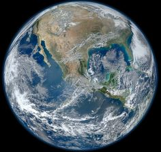 """Blue Marble"" image of earth taken from NASA satellite."