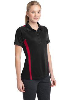 Ladies Colorblock Polo, Raglan sleeves  #embroidery #CustomPolo #CustomLogo #ApronEmbroidery #CustomEmbroidery #ScreenPrinting #PortAuthorityClothing