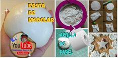 Arcilla de papel higiénico de secado al aire | Manualidades