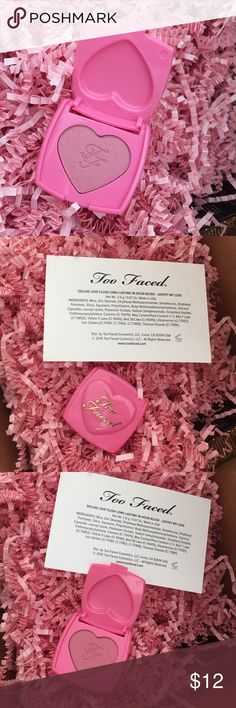 Travel deluxe sample size blush Justify My Love Deluxe sample size of Too Faced 16-hour lasting love flush blush in Justify My Love. Brand new, never used or swatched. Too Faced Makeup Blush
