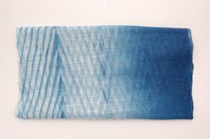 """silk and cotton blendblending of techniques, ombre across the width into a double arashi13"""" x 52""""hand washable, steam iron permissible"""
