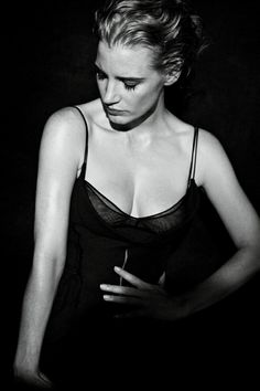 Jessica Chastain by Peter Lindbergh for Interview December January 2011.