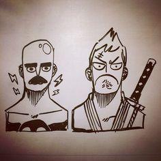 ENQUETE - vocês preferem ler uns quadrinhos sobre: A) Um robô lutador de boxe B) Um samurai de baixo calão ???