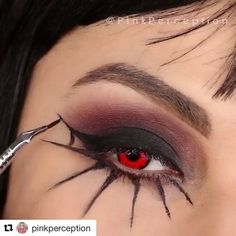 Who's ready for Halloween? Throwback to last year Spider web makeup! TAG A FRIE… - Halloween Makeup Cute Halloween Makeup, Halloween Eyes, Halloween Costumes, Spider Web Makeup, Maquillage Halloween Simple, Spider Costume, Makeup For Teens, Costume Makeup, Morphe