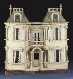 Antique Dollhouse, Antique Dolls, Vintage Dolls, Dollhouse Miniatures, Vintage Stuff, Fairy Houses, Doll Houses, Cream Furniture, Dolls House Shop
