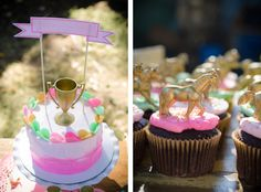 Pony Birthday Party Styled by @On Solid Ground Vintage Rentals, Desserts by Oven Lovin Sweets via Somewhere Splendid.