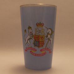 Chance glass 1953 Coronation blue glass tumbler Art Deco Glass, Glass Paperweights, Open Source, Murano Glass, Candlesticks, Birmingham, Tumbler, Scandinavian, England