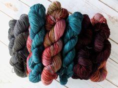 Swift Yarns. Hand dyed yarns. swiftyarns.com