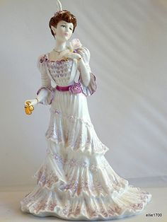 | ... ED Coalport Figurine EUGENIE First Night at the Opera, Made in England