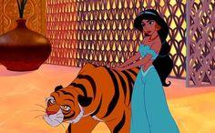 Princess Jasmine and Rajah via www.Facebook.com/AladdinPrincessJasmine