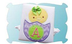 Custom Personalized Easter Chick Alphabet Shirt by RockintheTutu www.etsy.com/shop/rockinthetutu #eastershirt