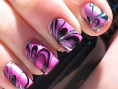 Lacquerish: Nail Art Water Marble Secrets Revealed + Tips & Tricks! Marble Nail Polish, Water Marble Nail Art, Best Nail Polish, Pretty Nail Designs, Nail Art Designs, Fingernail Designs, Winter Nails, Spring Nails, Cool Nail Art
