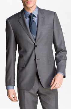 OMG Hotness!  Burberry Trim Fit Wool Suit available at #Nordstrom