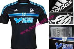 Brauch Neues Marseille(L'OM)Schwarz Adidas 3rd Fussball Trikot 2014 2015 Billig Satz