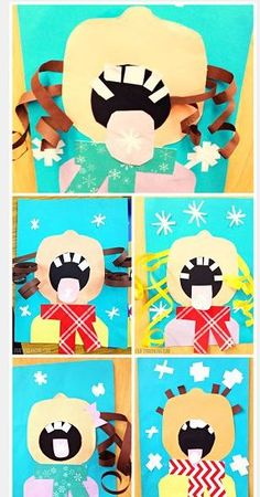 Kids catching snowflakes craft