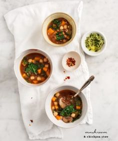 Chickpea Miso Noodle Soup - a healing broth made from lemon and miso is perfect for cold season. Make this gluten free by using quinoa pasta. Vegan.
