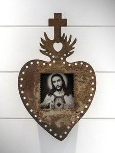 Relicário Sagrado Coração de Jesus Ferro