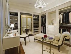 A Combination Closet And Dressing Room, Complete With Dressing Table Via  Random Inspiration. Part 54