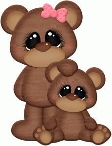 Silhouette Design Store - View Design #78709: mom and child bear. For Mothers Day