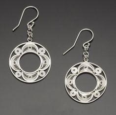 Garland Filigree Silver Earriings