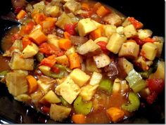 "Crockpot Veggie Stew (could be ""root vegetable"" stew)"