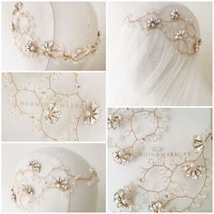 Hermione Harbutt bespoke Nadine Crystal Garland in gold wire https://www.hermioneharbutt.com/wedding/hair_accessories/buy.php?Product=383&Title=Nadine+Crystal+Garland