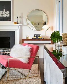 """""""Calmly Awesome"""" and totally fearless is how to describe the living room by @alisondamonte on #rue daily today.  Check it out 👉 ruemag.com / 📷: @brucedamonte"""