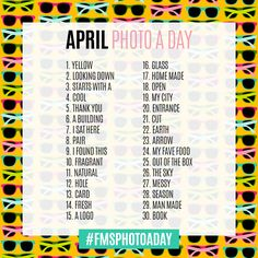 April Photo A Day Challenge 2016