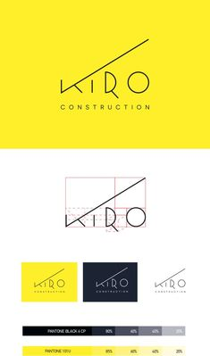 KIRO Construction Corp. ID Proposal #1 on Behance