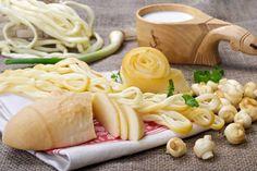 Tipos de queso tradicionales como Oštiepok, Korbáčik o Parenica