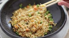 Recreate the signature flavor of Hibachi-style fried rice at home in less than 15 minutes with this easy recipe!