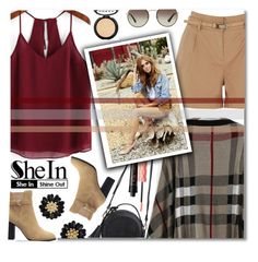 """SheIn Chiffon Top"" by anilovic ❤ liked on Polyvore featuring Oasis, Benefit, Prada, LORAC, Sheinside and shein"