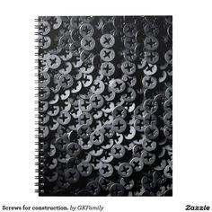 Screws for construction. spiral notebooks