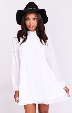 JuneBug Bell Dress ~ White Chiffon | Show Me Your Mumu