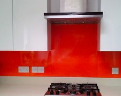 Sunset Orange Acrylic Splashbacks at  http://www.acrylic-splashbacks.com