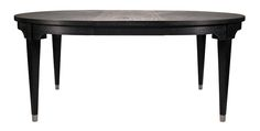 Atherton Onyx Round Extension Dining Table
