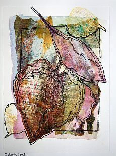 Deborah Babin - Leaves 2 Source by rebeccachapmanart Free Motion Embroidery, Embroidery Art, Machine Embroidery, Creative Textiles, Creative Art, Mixed Media Collage, Collage Art, A Level Textiles, Tea Bag Art
