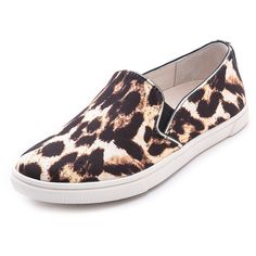 alice + olivia Pamela Slip On Sneakers (240 BRL) ❤ liked on Polyvore featuring shoes, sneakers, natural, leopard slip-on shoes, pull-on sneakers, slip on sneakers, leopard sneakers and leopard print slip-on shoes
