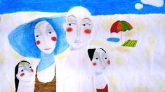 Reproducción de una ilustración realizada por la artista onubense Susana Pérez. Pintada por un grupo de 2º de ESO.