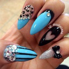 I'm in love - cheetah : blue : blk : silver
