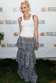 How to wear a maxi skirt ala Gwen Stefani