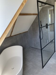 Bathroom Inspiration, My Dream Home, Future House, Bathtub, Attic, Interior, Decor Ideas, Dreams, Food