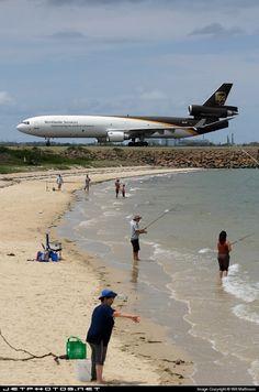 Beach next to Runway