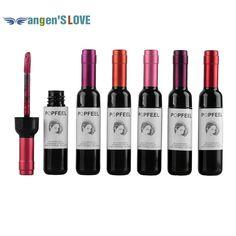 1 PZ NUOVO Arrivo 6 Colori Popfeel Opaco Rossetto Lipgloss Bottiglia di Vino Rosso Rossetto Opaco Impermeabile Colorato