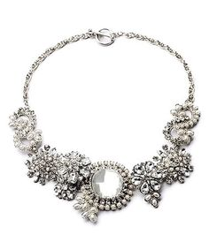 Another great find on #zulily! Imitation Pearl & Crystal Eclipse Statement Necklace #zulilyfinds