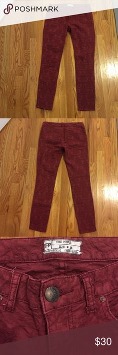Free People Pants Perfect for the holiday season, goes well with the free people shirt available in my closet! Bundle to save! Free People Pants Straight Leg